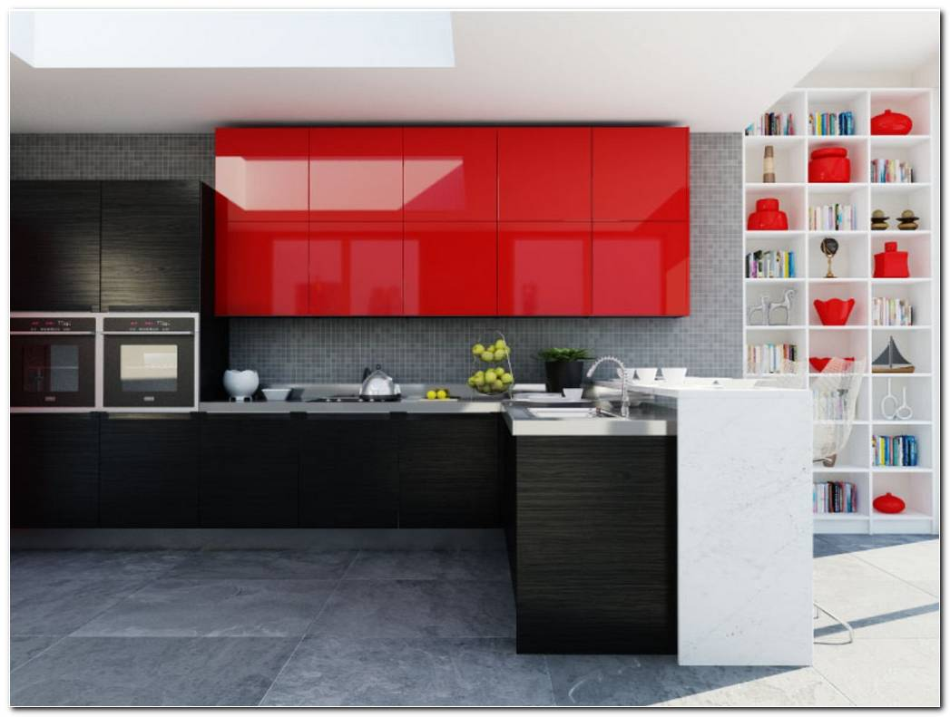 Cocina Color Rojo Ferrari