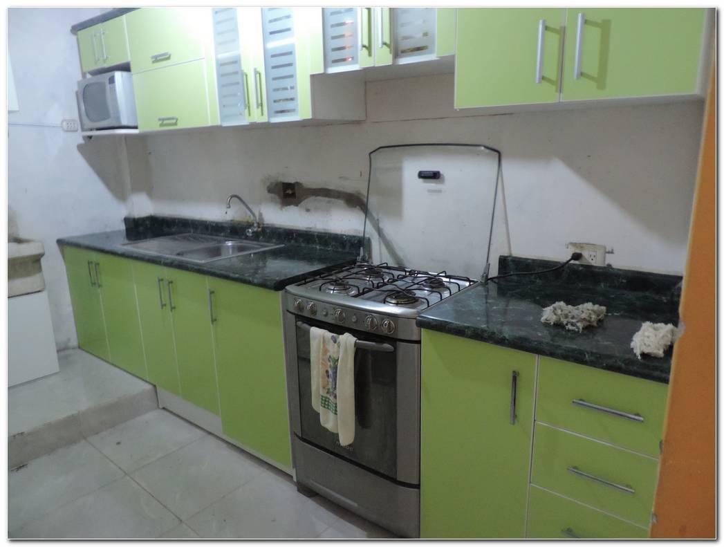 Cocina De Color Verde Agua