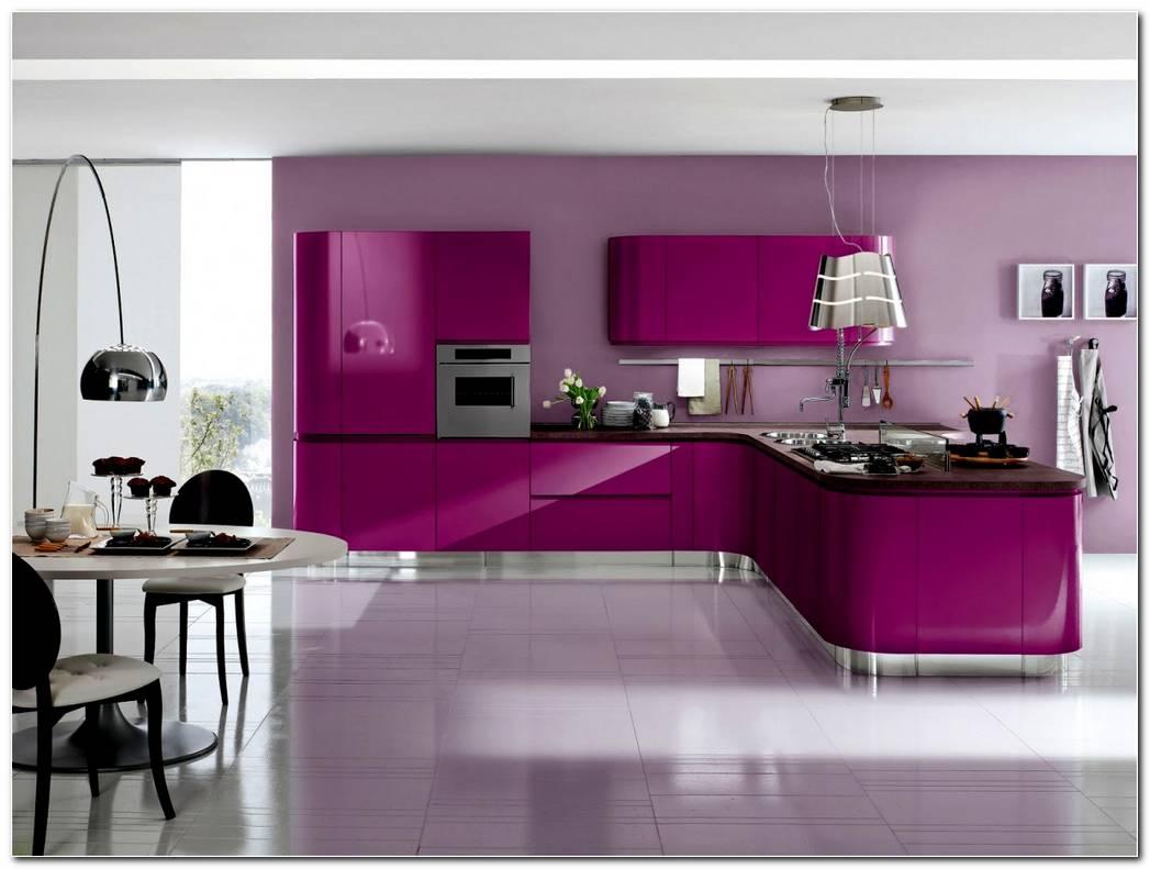 Cocina De Color Violeta