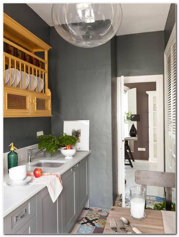 Cocina Pintada De Color Gris