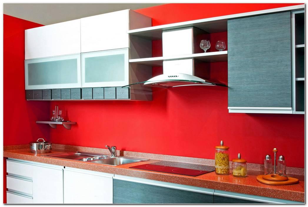 Cocina Pintada De Color Rojo