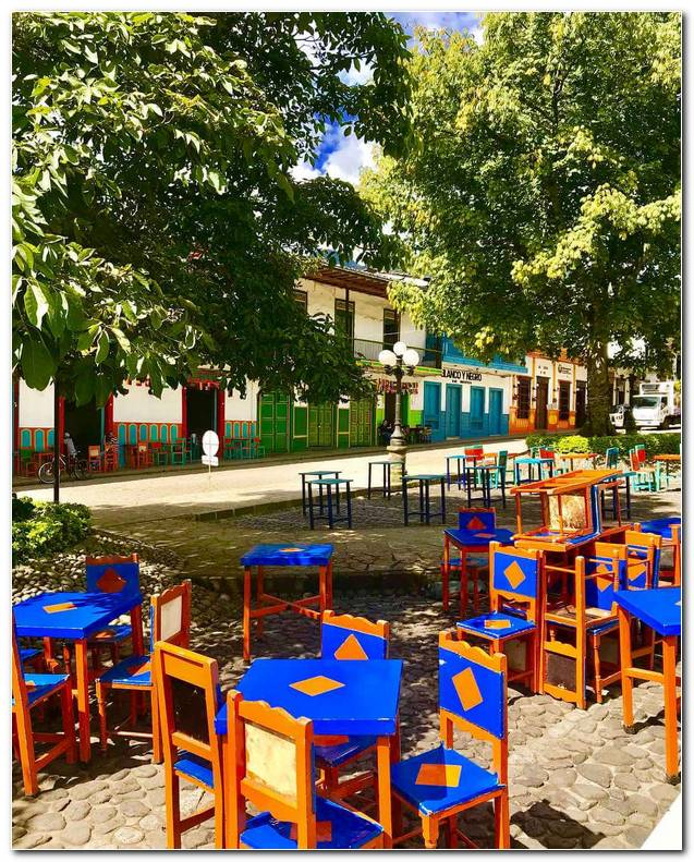 Colored Chairs In Jard?n Antioquia