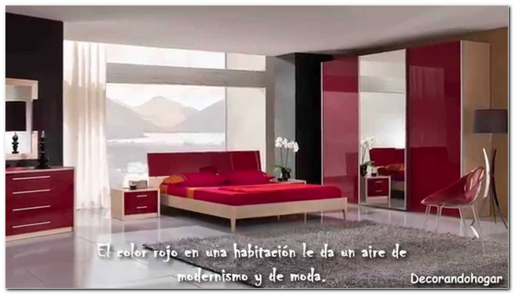Colores Dormitorio Rojo