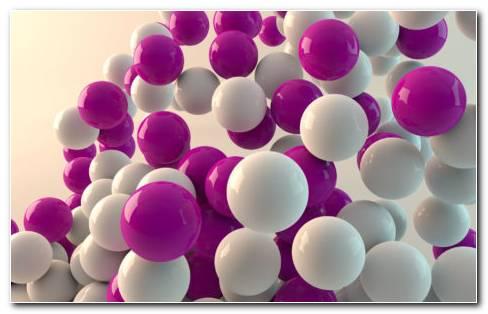 Colorful 3D Balls HD Wallpaper