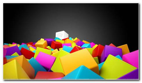 Colorful Boxes HD Wallpaper