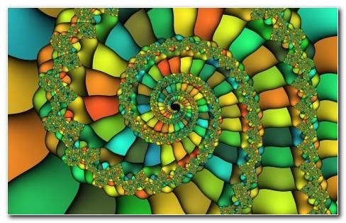 Colorful fractal swirl