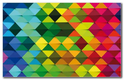 Colorful Triangle Art HD Wallpaper