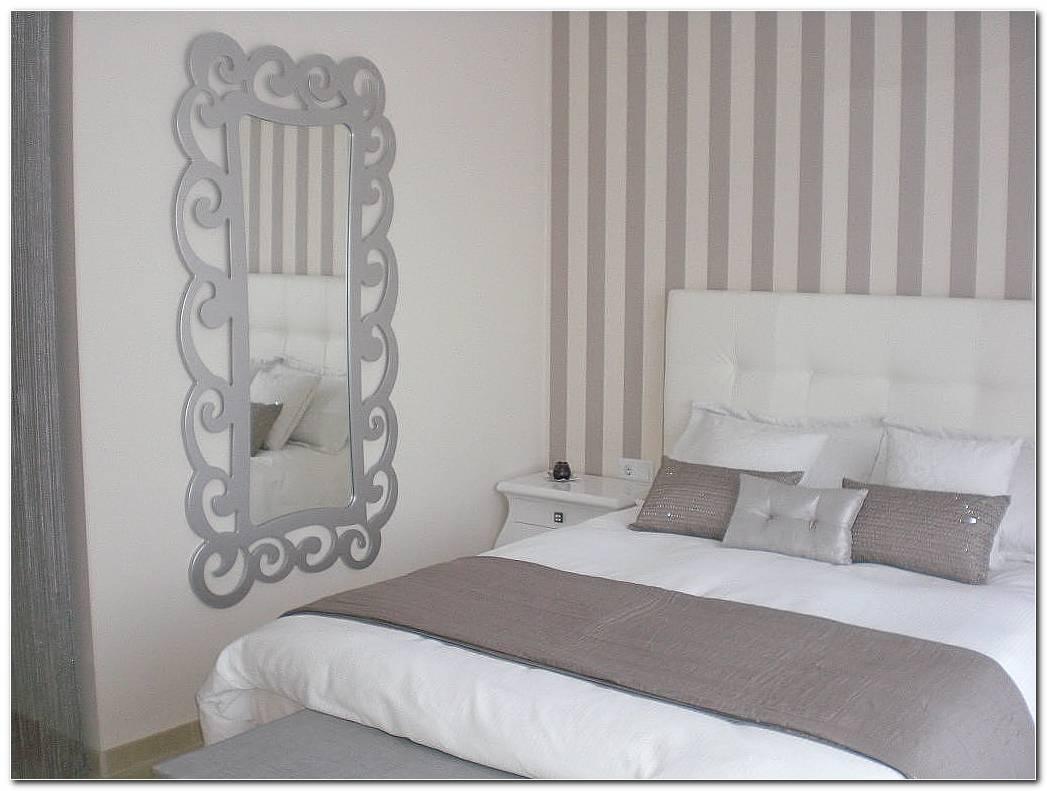 Combinar Papel Y Pintura En Dormitorios