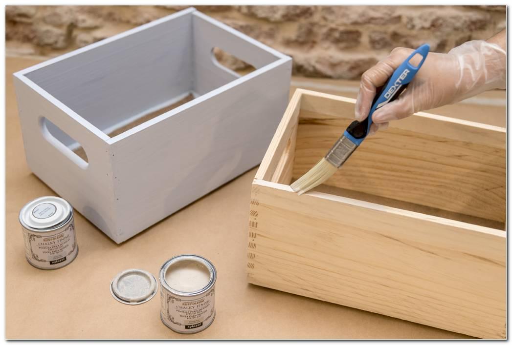 Como Pintar Una Caja De Madera
