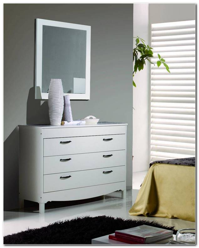 Comoda Con Espejo Para Dormitorio