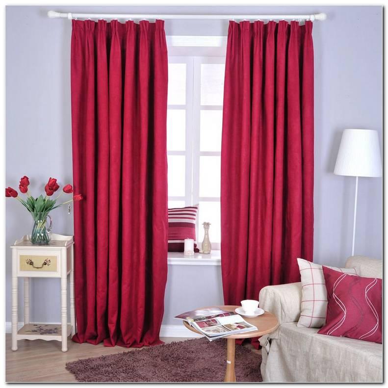 Cortinas Rojas Para Dormitorio