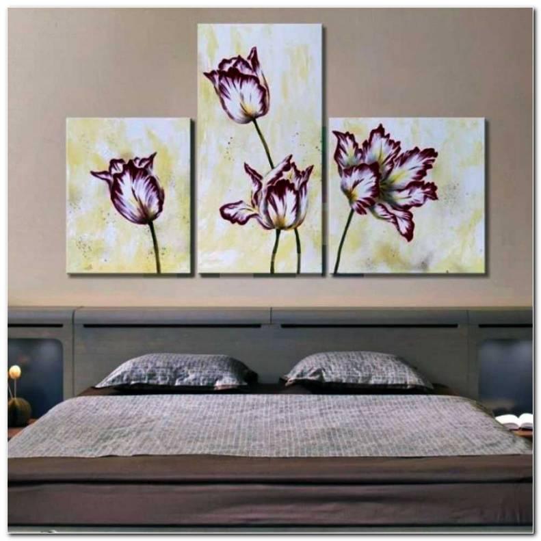 Cuadros Tripticos De Flores Para Dormitorios