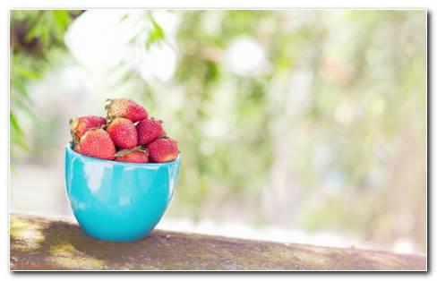 Cup of berries HD wallpaper