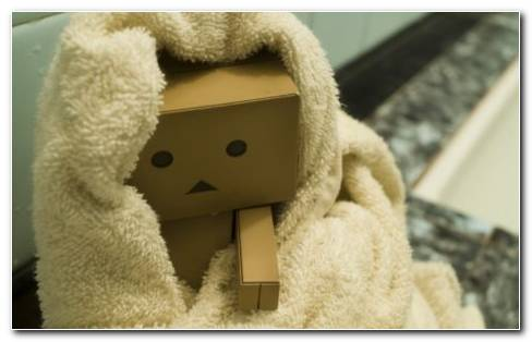 Cute Images Of Danboard Toy Wearing Towel