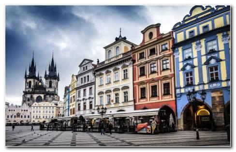 Czech republic Prague street HD wallpaper
