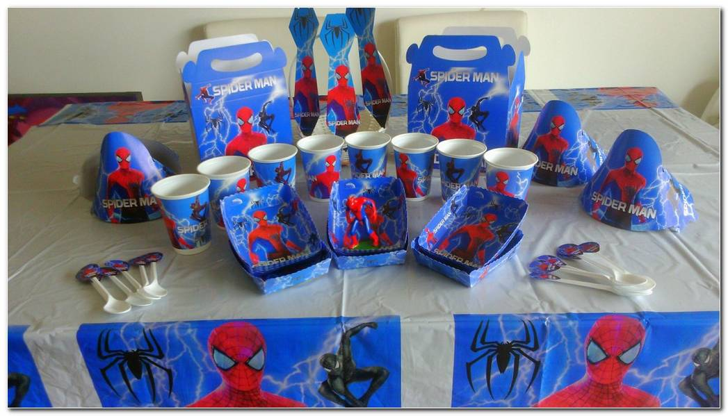 Decoracion De Fiesta De Spiderman