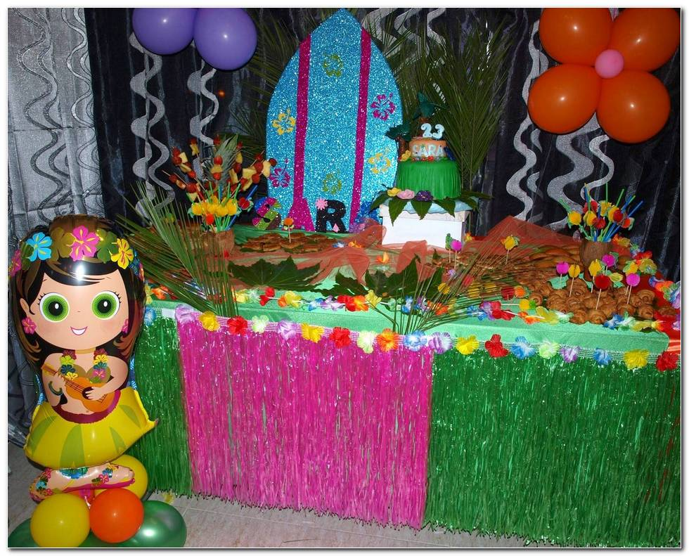 Decoracion De Fiesta Hawaiana Para Adultos