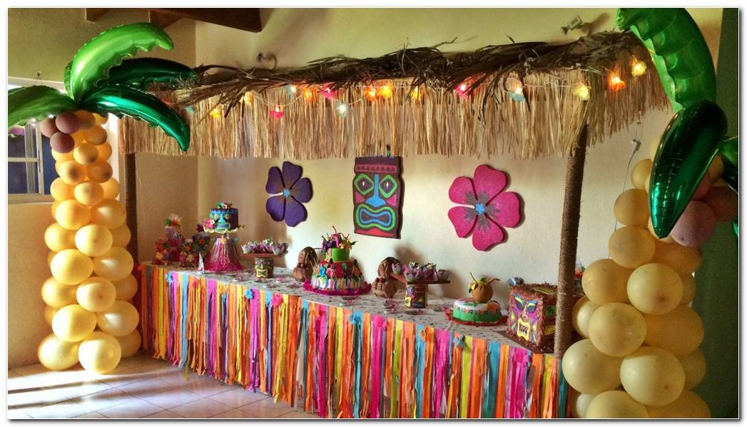 Decoracion De Fiesta Hawaiana