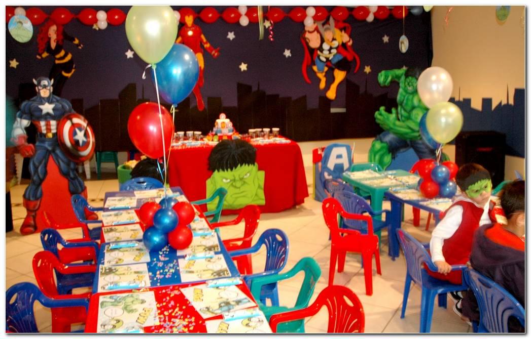 Decoracion De Los Vengadores Fiesta Infantil