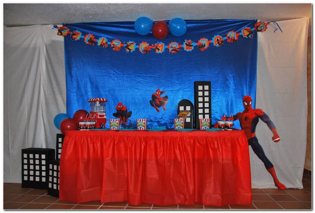 Decoracion De Spiderman Para Fiesta Infantil