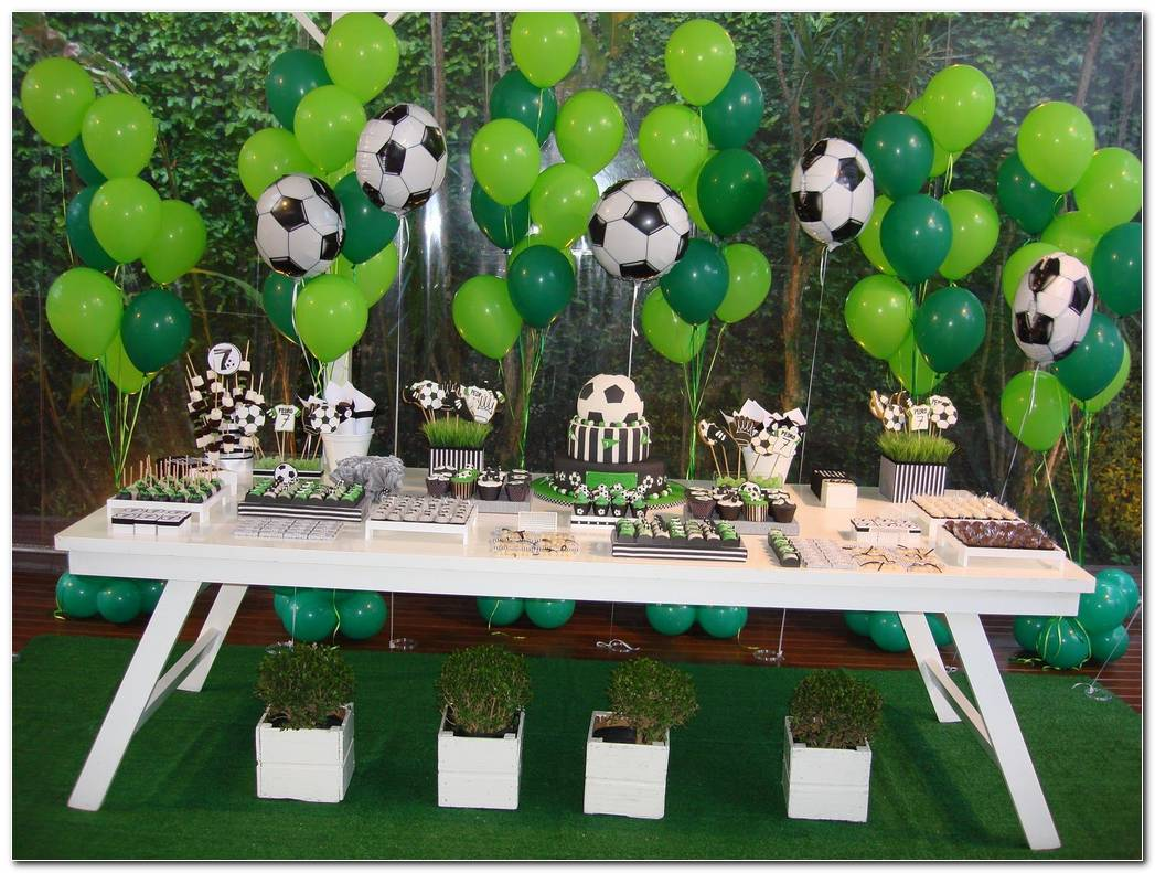 Decoracion Fiesta De Cumpleaos De Futbol