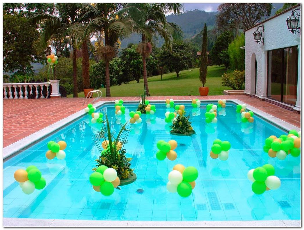 Decoracion Fiesta En Piscina