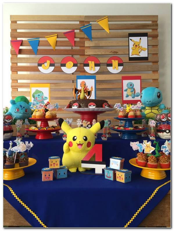 Decoracion Fiesta Infantil Pokemon