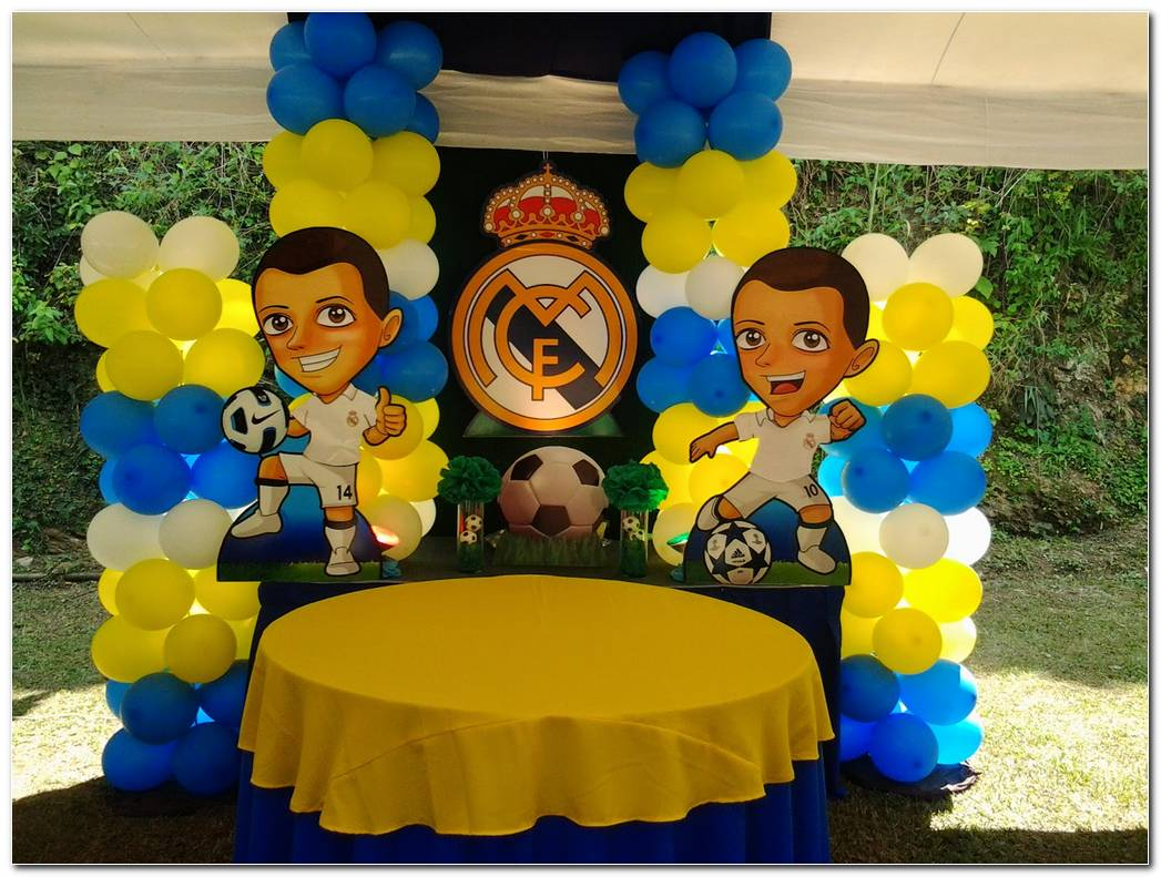 Decoracion Fiesta Infantil Real Madrid