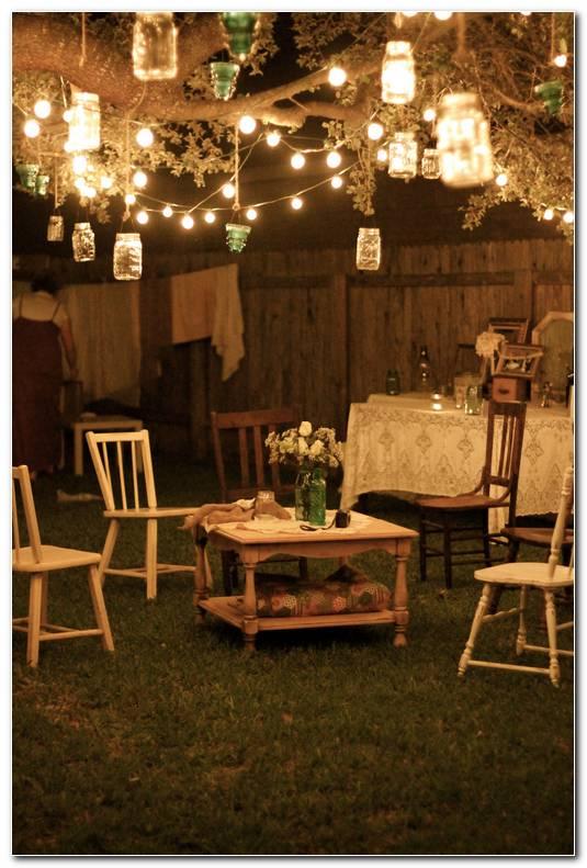Decoracion Fiesta Jardin Noche