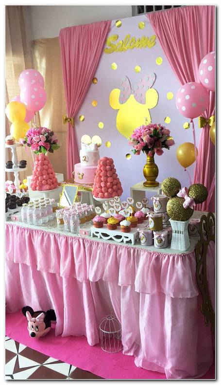 Decoracion Fiesta Minnie Mouse Rosa