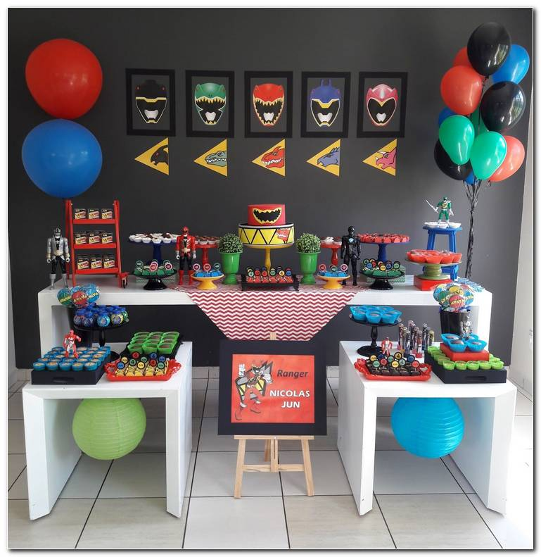 Decoracion Fiesta Power Rangers