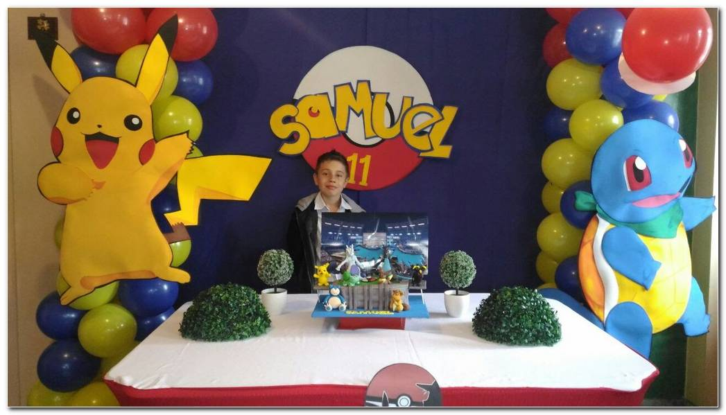 Decoracion Pokemon Fiesta Infantil
