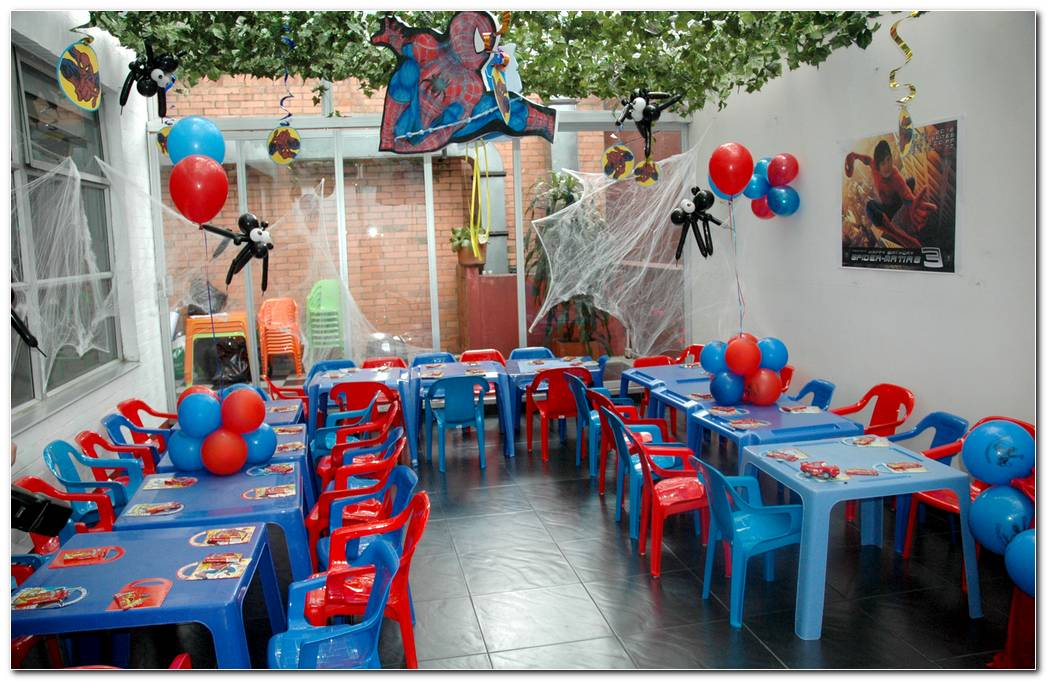 Decoracion Spiderman Fiesta Infantil