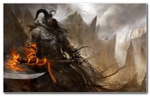 Demon Warrior HD Wallpaper