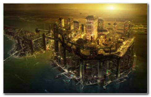 Deus Ex Human Revolution City HD Wallpaper