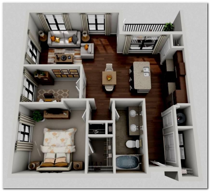 Dise O De Casa 1 Dormitorio
