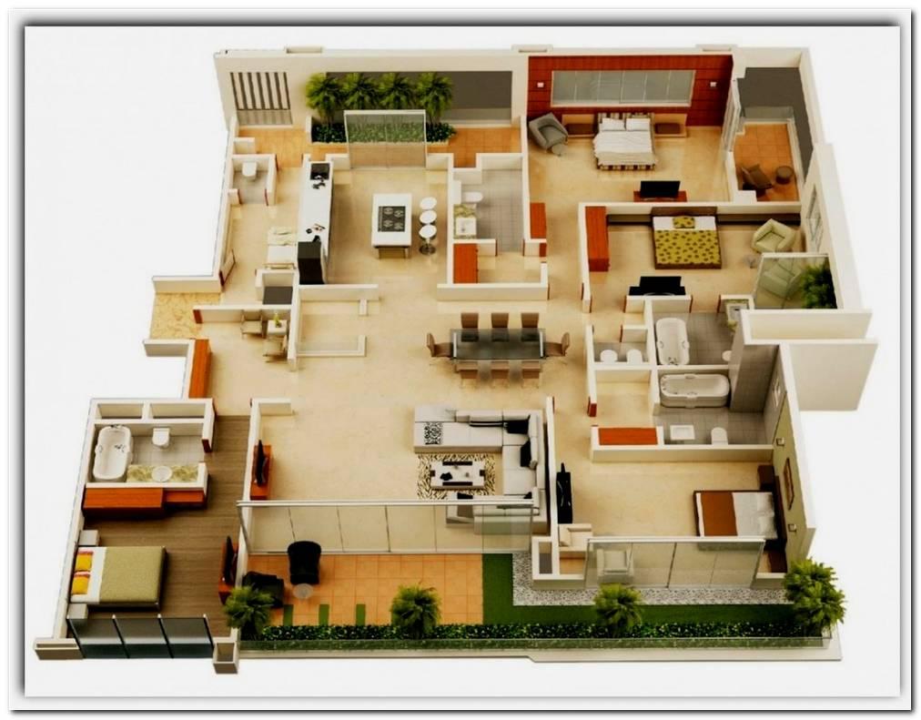 Dise O De Casas 4 Dormitorios
