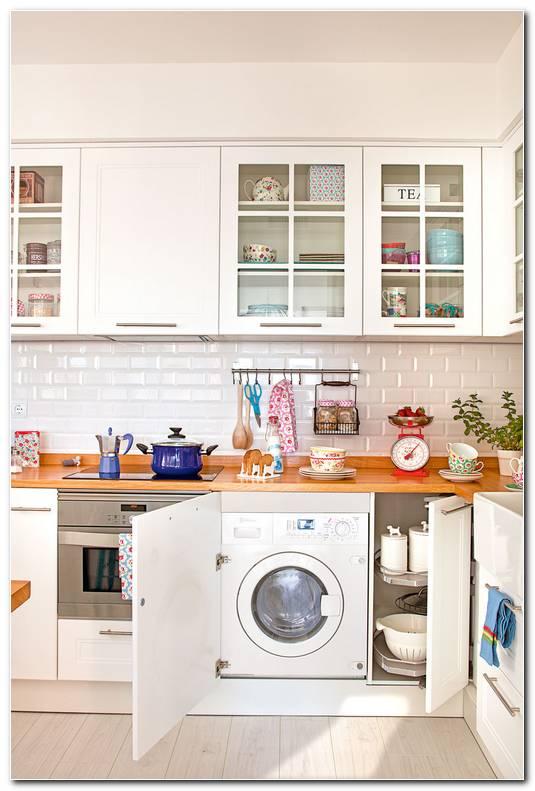 Dise O De Cocina Con Lavadora Y Secadora