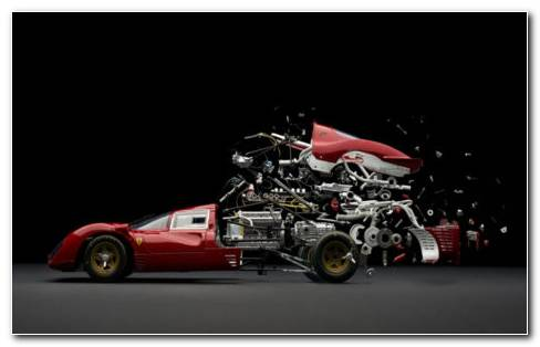 Disintegrating Ferrari 330 P41 HD Wallpaper