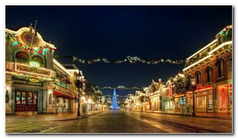 Disneyland Christmas HD Wallpaper