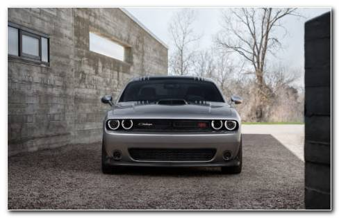 Dodge Challenger Gray HD Wallpaper