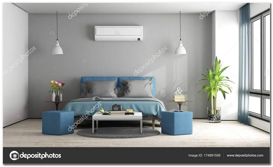 Dormitorio Gris Y Azul
