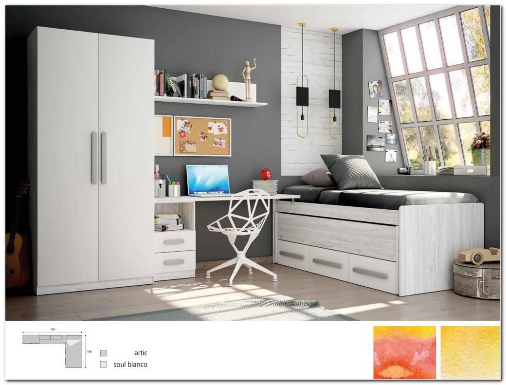Dormitorio Juvenil Blanco Y Gris