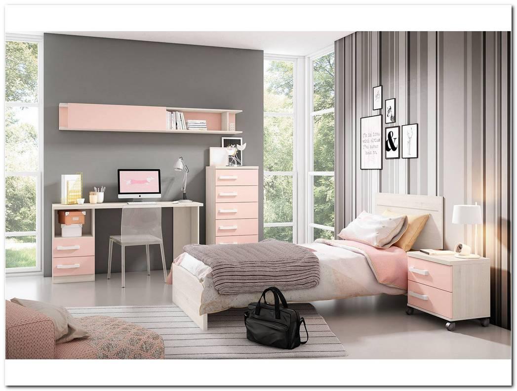 Dormitorio Juvenil Blanco Y Rosa