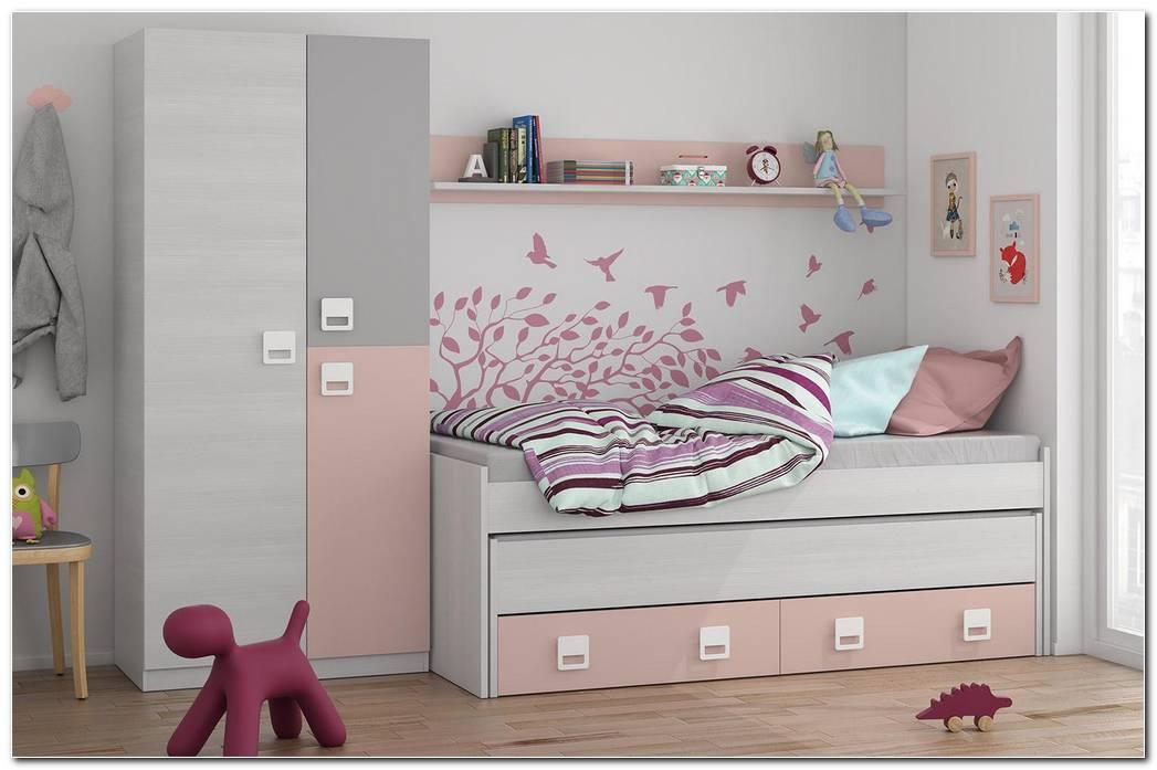 Dormitorio Juvenil Rosa Y Gris