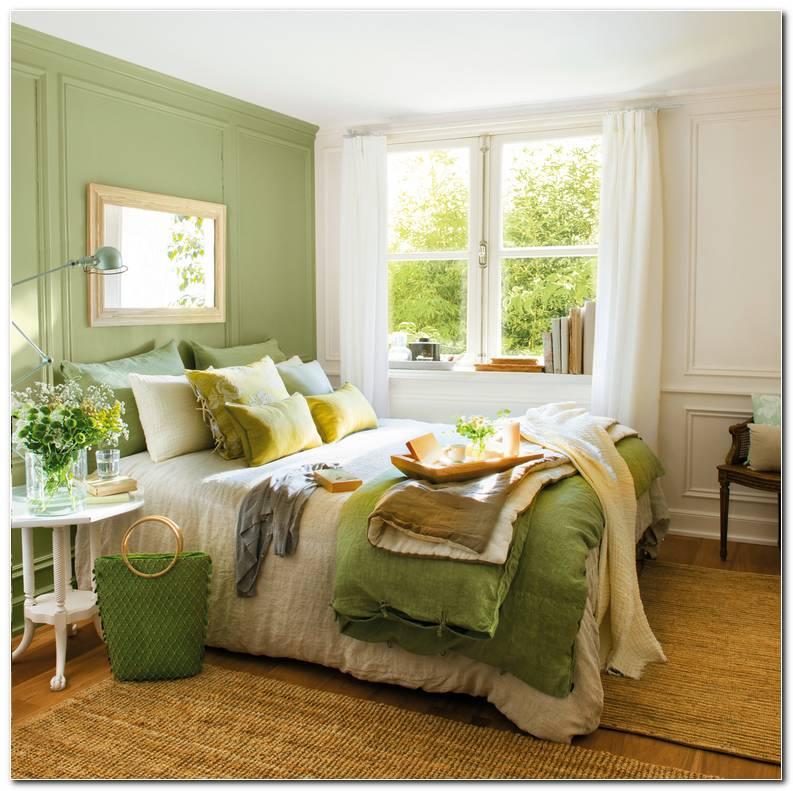Dormitorio Verde Y Gris