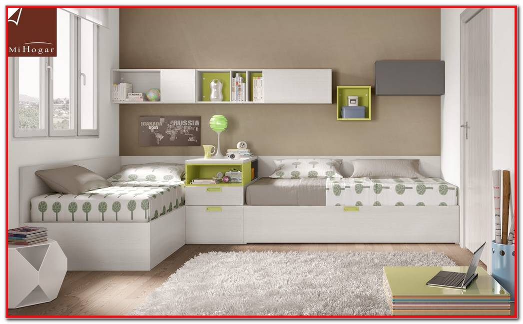 Dormitorios Juveniles Dos Camas En L