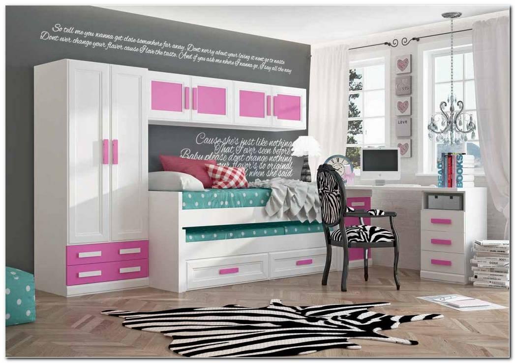 Dormitorios Juveniles Rusticos En Blanco