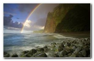 Download Rainbow In Maui Hawaii Wallpaper