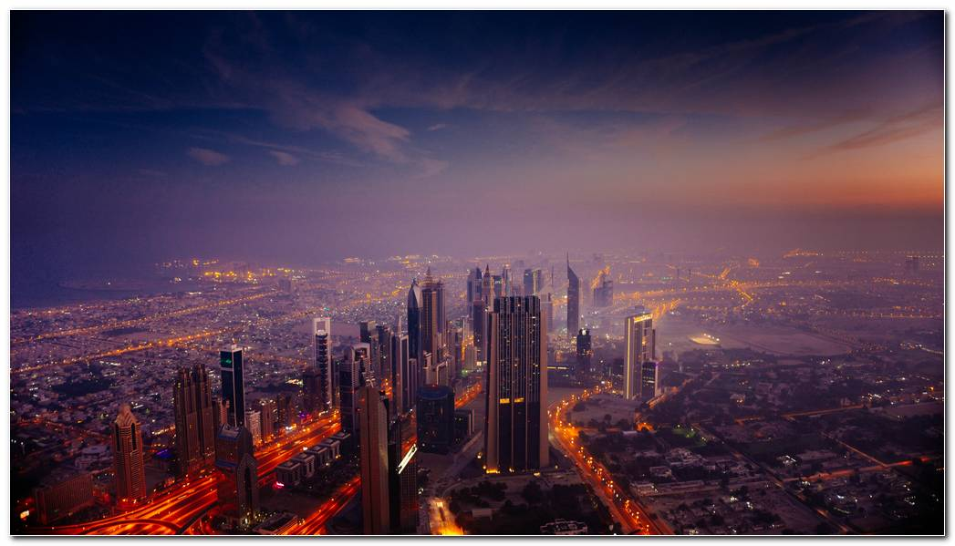 Dubai City Hd Sunrise Wallpaper